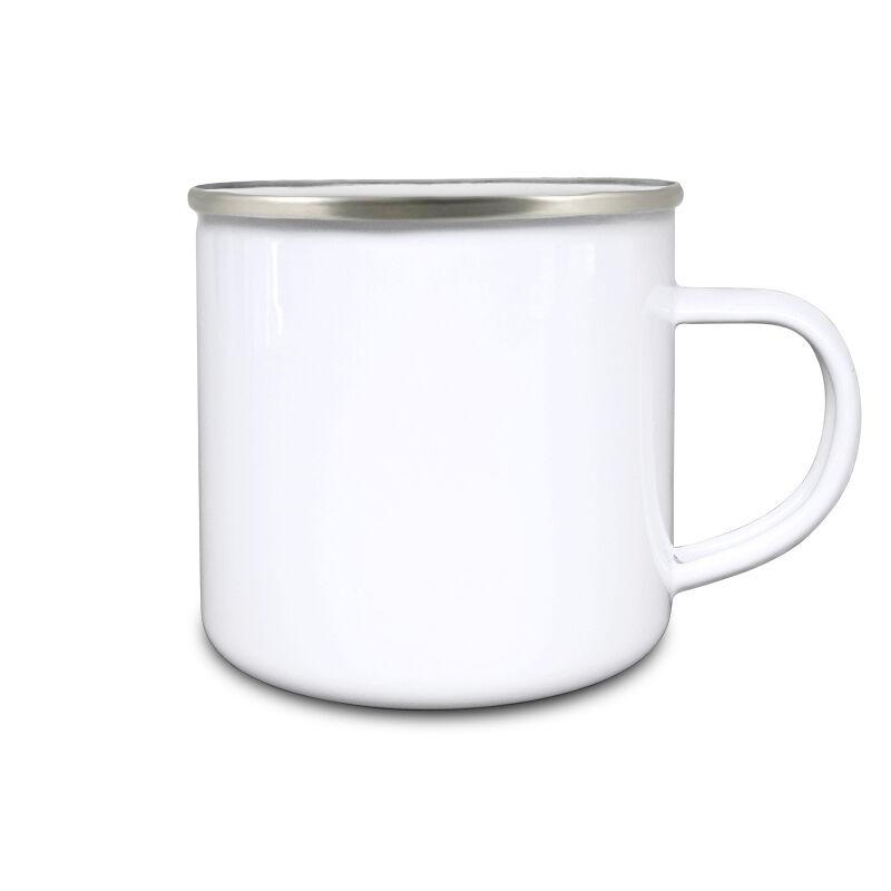 Fehér fém bögre